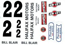 #2 Bill Blair 1950-1953 Oldsmobile 1/43rd Scale Slot Car Waterslide Decals