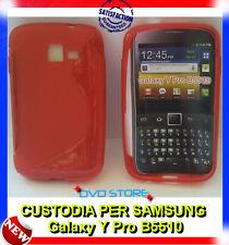 Pellicola+Custodia cover case WAVE ROSSA per Samsung Galaxy Y Pro B5510
