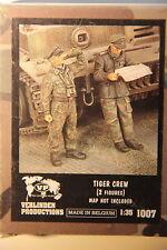 VERLINDEN 1007 1/35 WW2 GERMAN TIGER TANK CREW, Nuovo di zecca Set