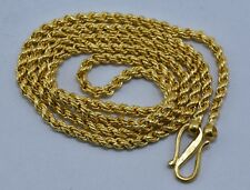Vintage 22 kt gold chain necklace handmade gold chain gold jewelry