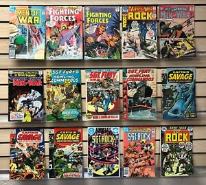 15 issues of Marvel & DC WAR COMICS...Sgt. ROCK/Sgt. FURY..1960's...ONLY $19.95!