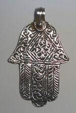 SILVER Moroccan Hamsa Berber Charm Replica Ethnic Tribal PENDANT- Ancient Look