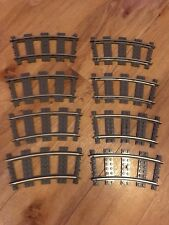 Lego 4520 8 Pieces Of 9V Curved Train track - No box