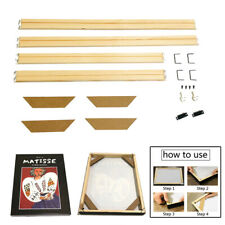 DIY Painting Frame Solid Wood Frame Canvas Painting Accessories Multiple Sizes@