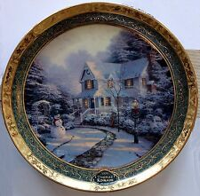 "Thomas Kinkade ""The Night Before Christmas"" 9.25"" Plate 2006 8th Bradford Exch"