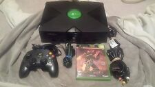 Microsoft Original Xbox Console (system) with Halo 2 - XBMC installed