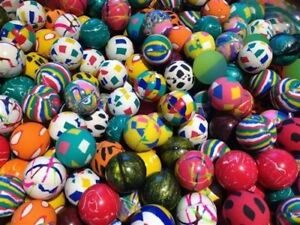 """100 Premium Quality One Inch 27mm Super Bounce Bouncy Balls 1"""" Exclusive Mix"""