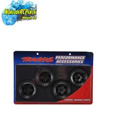 TRA8378 Traxxas Drift Tires & Wheels Assm Glued-split Blk/Chrome