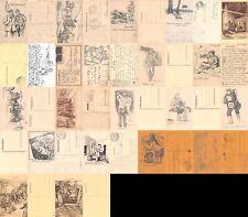 Lot / Konvolut 20 AK Feldpostkarten Skizze 1. Weltkrieg