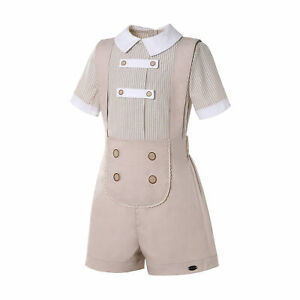 Romany Baby Boys Spanish Outfit Christening Party Suit Striped Summer Clothes
