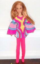 Vintage 1971 Mattel Rock Flower Dolls Lilac w/ Original Outfit & Sunglasses