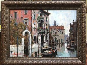 Antonio Gravina Venezia Original Oil Painting