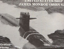 622 SSBN J Monroe * Deactivation Book * Welcome Bk