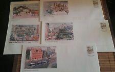 Lot de 5 enveloppes Prêt à Poster illustrées Caen - 20g