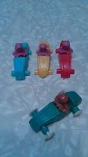 4 Vintage plastic soapbox race cars. Hong kong.