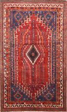 Antique Vegetable Dye Geometric Tribal 5x8 Lori Persian Oriental Area Rug Wool