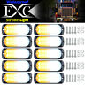 10 pcs 20-LED Strobe Lights Emergency Flashing Warning Beacon White Amber 12-24V