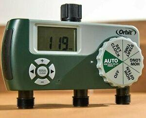 Orbit 3 Outlet Programmable Tap Sprinkler Timer for Garden Hose Faucet NEW