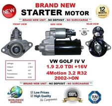 Per VW GOLF IV V 1.9 2.0 TDI +16 V 4 Motion 3.2 R32 2002 - > Motore di Avviamento 2.0 KW 10 T
