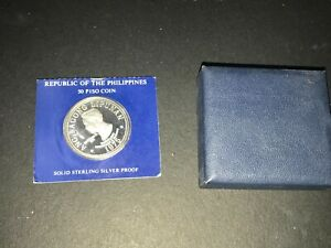 Philippines 1975 50 Pesos Silver Proof Coin (Marcos) - w/ Box but without COA