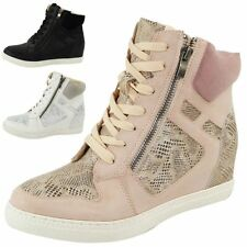 Synthetic Wedge Ankle Boots for Women