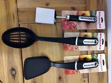 Kitchenaid Utensils Cooking Tools Short Turner Slotted Spoon Basting Brush Black