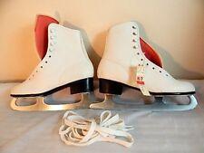 Nos Vintage Deadstock Aerflyte White Ice Skates Boots Figure Sport 683 Vegan 6