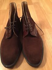 BRUNO MAGLI ELITE Men Tobacco Brown Suede & Leather Boots US 8 Made in Italy