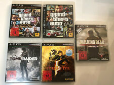 5 x PS3 Spiele - GTA,Tomb Raider, Walking Dead & Resident Evi (USK 18)