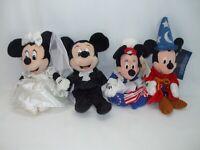 Disney World Bride Minnie Groom Mickey Betsy Ross Fantasia Sorcerer bean bag