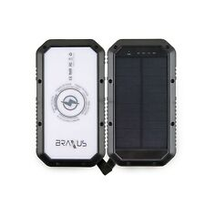 Braxus Solar Power Bank, Portable Solar Charger, 20,000mAh, Qi Wireless Charger