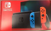 Nintendo Switch Console V2 NEW 32gb w/ Neon Red and Neon Blue Joy