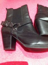 Ladies Boots Clarks Size 6.5 40 New Black Malm Bright