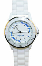 Nurse-Medical White Silicone Quadrant Scrub Watch