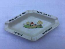 Ancien Cendrier vintage ashtray ads Loterie Nationale Haviland Limoges FRANCE