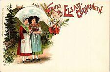 CPA  Gruss aus Elsass-Lothringen - Litho - Folklore - Types  (481532)