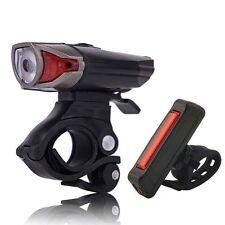 Premium LED Bike Light Rechargeable Helmet Headlight + Rear Lamp Waterproof OZ