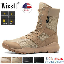 Men's High Top Military Tactical Army Work Boots Desert Hiking Combat Shoes Size
