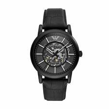 Emporio Armani Black Meccanico Skeleton Dial Automatic Luxury Watch AR60008