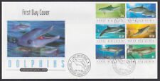 Papua New Guinea 2003 FDC illustrated Cover Full Set Dolphins Endangered Species