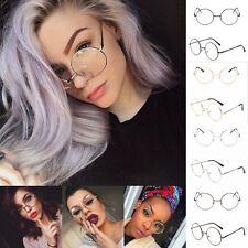 POP Retro Eyeglasses Big Round Metal Frame Clear Lens Glasses Nerd Spectacles