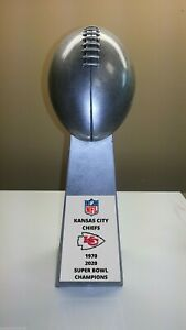 """2020 KANSAS CITY CHIEFS SUPER BOWL CHAMPS LOMBARDI STYLE TROPHY 10.25"""" TALL"""