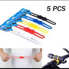5X Bike Bicycle Flashlight Torch Silicone Universal Handle Holder Mount US Stock