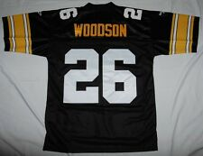 ROD WOODSON PITTSBURGH STEELERS REEBOK SEWN THROWBACK JERSEY LRG