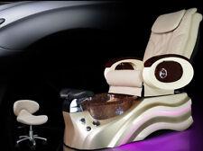 New listing Cream Salon Shiatsu Massage Pedicure Foot Spa Chair Pipeless Gold Tub Basin Tub