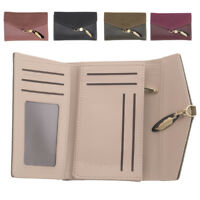 Ladies Womens RFID Blocking Faux Leather and Suede Trifold Purse Coin Section