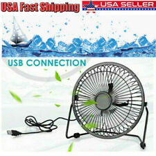 4inch Desk Table Fan Personal USB Mini Air Circulator Silent Mini Portable Retro