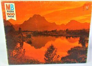 VTG SEALED 1978  Milton Bradley Grand Teton National Park 31x23 Puzzle 1500 Pcs