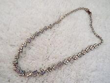 Silvertone AB Rhinestone Necklace (C13)