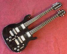 Carvin DN 612 Circa 1982 Black Double Neck Made in USA OHSC 6/12 Set Neck